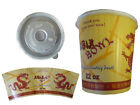 (42100+51100) 200 Asiabecher 22 oz 500 ml  Deckel Food to go ASIA Drache Nudel