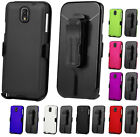 CASE + BLACK BELT CLIP HOLSTER + SCREEN PROTECTOR FOR SAMSUNG GALAXY NOTE 3 III