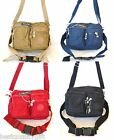 NEW ROLLING SAGE BROWN+BLUE+RED+BLACK CROSSBODY,HAND BAG,PURSE,FANNY PACK