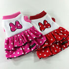 Dog&Cat Clothes Thick Tiered Skirts Butterfly  Embrodery Layered Dgess_F304