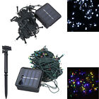 Solar Powered 100 LED String Lights Christmas Party Outdoor White/RGB 2 Modes