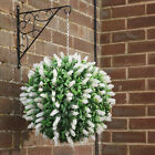 ARTIFICIAL WHITE WEDDING LAVENDER BALLS TOPIARY HANGING GARDEN BUXUS DECORATION