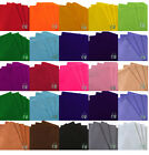"""Packs of 6 Sheets Craft Felt 9""""x12"""" Approx 2mm Thick. In Single Colour Packs"""