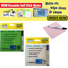 50 MAGIC STICKY NOTE PAD SHEETS & PEN KIDS ERASABLE NOTES SHEET REUSABLE SCHOOL
