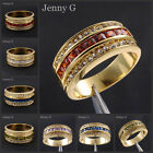 Jenny G Jewelry Men's 10kt Yellow Gold Filled Various Color Gem Stone Band Ring