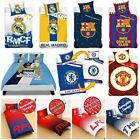 OFFICIAL FOOTBALL CLUB DUVET COVER SETS - CHELSEA MANCHESTER BARCELONA & MORE