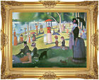 Sunday Afternoon on the Island of La Grande Jatte Seurat Repro Framed Art Print