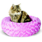 "Catit DONUT STYLE Cat Bed PINK or BLUE 16"" Dia x 5"" XSMALL"