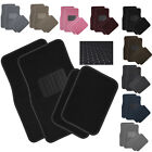 4pc Solid Color Floor Mats Set Universal Fit Car Truck SUV Van