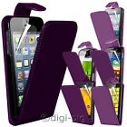 PURPLE PU LEATHER FLIP CASE COVER & LCD PROTECTOR FOR VARIOUS MOBILE PHONES