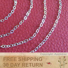 Sterling Silver Chain 2mm Italian cable sold by the inch in bulk making necklace