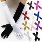 22 Inch Long Satin Elbow Stretch Glove Bridal Wedding Fancy Prom 10 Colors
