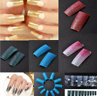 100pcs Acrylic Glitter French False Nails Tips Nail Art Decoration Fashion Style