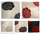 "NEW EXTRAVAGANCE CHENILLE LUXURY EMBROIDERED CUSHION COVERS 18""x18"""