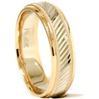 Mens 14K White & Yellow Gold 2 Toned Modern Heavy Weight Wedding Ring Band 6-12