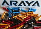 Araya Alloy Nipples. Anodised, Blue, Red, Gold, Black. Bag 36. Length 16mm NEW