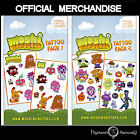 Moshi Monsters Temporary Tattoo Pack 1 OR 2 Official Tattoos Choose Yours New