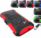 FOR HTC ONE PHONES RUGGED ARMORED HYBRID CASE COVER+CLIP HOLSTER+STYLUS/PEN