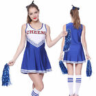 High School Musical Cheer Girl Cheerleader Uniform Costume Outfit w/ Pompoms Pro