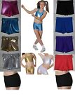 ROCH VALLEY GIRLS DANCE GYMNASTICS SHORTS HOT PANTS METALLIC + NYLON LYCRA...