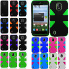 ZTE Majesty 796C IMPACT TUFF HYBRID Protector Case Skin Phone Covers Accessory