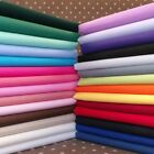 Plain Cotton Fabric 3 Sizes 100% Cotton Poplin 30+ Colours Red Blue Pink Green.