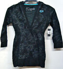 FOX RACING TATTED UP GIRLS/WOMENS BLACK V CUT 3/4 HOODY HOODIES NEW SZ SM