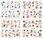 1PC 4SETS DIY Christmas Halloween Bow Nail Art Wrap Sticker Decals Adhesive Gift