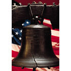 'Liberty Bell with American Flag' Photography Canvas Print