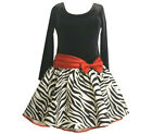 Bonnie Jean Girls Dress Size  Plus 14.5 Christmas Zebra