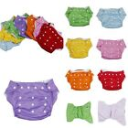 Newborn Baby Unisex Dot Adjustable Washable Reusable Cloth Diapers Nappy Cover