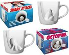 Mug Octopus &/or Shark Attack Coffee Porcelain Collectible Funny Cup Gag Fish
