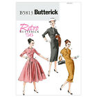 Butterick 5813 Sewing Pattern to MAKE Retro '56 Misses Dress Fitted Thru Bust