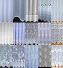 CHEAP VOILE NET CURTAINS SLOT TOP ~ PLAIN BUTTERFLY SEMI PLAIN - SPECIAL SIZES