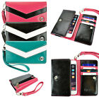 caseen AT&T Smart Cell Phone Wallet Clutch w/ Wrist Strap Bag Case Cover NEW