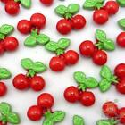 5/20/100pcs resin flatback/button red cherry 16x16MM DIY embellishment craft