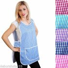Unisex Work Cleaning Catering Tabard Tabbard Apron Overall 6 Sizes Color UK 8-30
