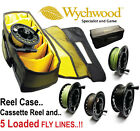 Wychwood Reel Case PLUS LA Disc-Drag Fly Reel & 5 Fitted Fly Lines - RRP £119!!