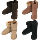 New Comfort Warm Shearling Leather Womens Winter Snow Boots Multi Colored