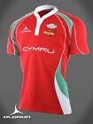 Welsh Rugby Supporters Shirt Red Jersey S-XXXXL Olorun Wales Rugby Shirt