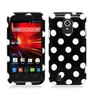For ZTE Majesty 796C HARD Case Snap On Phone Cover Accessory Polka Dots