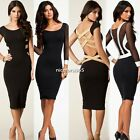 Women Sexy Ladies Party Slimming Clubwear Evening Bodycon Bandage Pencil Dress N