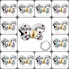 Pugster Hot Mother Daughter Butterfly Charms European Beads Multicolor Crystal