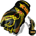 MRX Fight MMA Gloves UFC Cage Boxing Grappling Glove Snake Design Black/Yellow