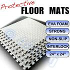 WHITE Garage / Workshop /Anti-Fatigue Flooring Mats Tiles Interlocking EVA Foam