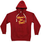 Beer Pouch Where's The Beer Funny Adult Hoodie Hooded Sweatshirt