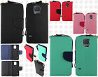 For Samsung Galaxy S5 Premium Leather 2 Tone Wallet Case Pouch Flip Cover