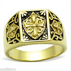 Templar Knight No Stone 18kt Gold Plated Stainless Steel Ring