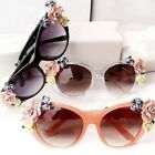 5Colors New Brand Celebrity Beach Summer Soft handmade Rose Flower Sunglasses-CB