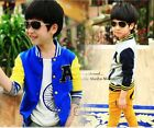 Preppy Style Kids Girls Boys Toddlers Contrast Colors Sports Coat Childs Jacket
